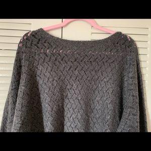 Lane Bryant Woman Sweater Gray LS Sz 14/16 18/20